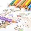 Children's drawing — Stockfoto