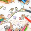 Children's drawing — Foto de Stock