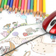 Children's drawing — Stock Photo