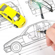 Car blueprint — Stock Photo #8471082