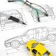 Car blueprint — Stock Photo #8471124