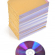 DVD and documents - Stock Photo