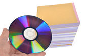 DVD and documents — Stock Photo