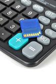 Calculator and SD card — Stockfoto