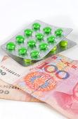 Chinesische währung und medizin — Stockfoto