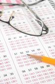 Exam page — Stock Photo