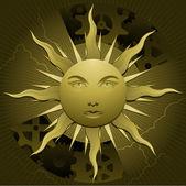 Celestial sun — Stock Vector