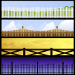 Stock Vector: Fence Banners