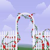 Rose arbor — Stock Vector