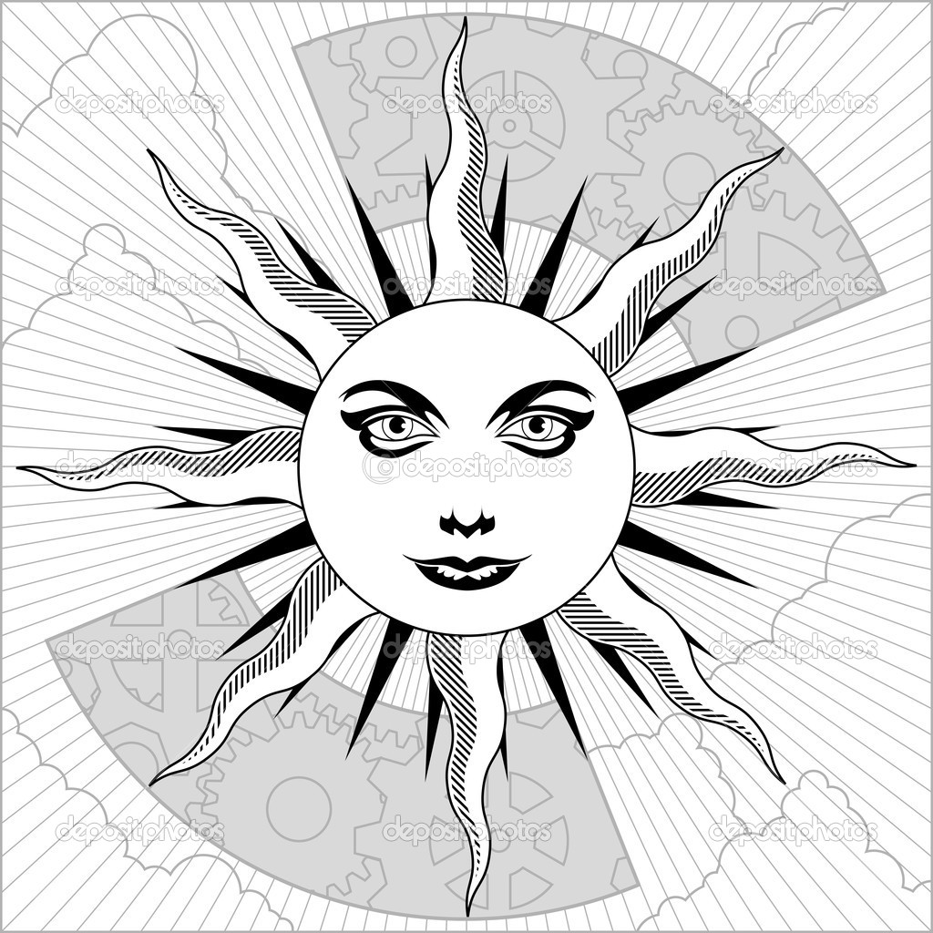 Sun Drawing Black White Black White And Grayscale Sun
