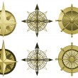 Stock Vector: Compass roses