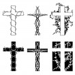 Thorn crosses - Stock Vector