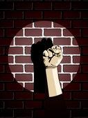 Fist wall — Stock Vector