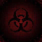 Grid biohazard — Stock Vector