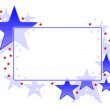 Star frame - Stock Vector