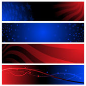 Patriotic banners — Stock Vector
