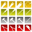 Royalty-Free Stock Vector Image: Tool icons