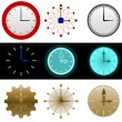 Stock Vector: Clock set