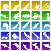 Sealife icons — Stock Vector