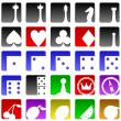 Royalty-Free Stock Vector Image: Gambling icons