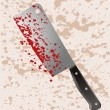 Bloody cleaver — Stock Vector