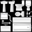 Bathroom fixtures — Stock Vector #8791202