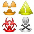 Hazard symbols — Stock Vector