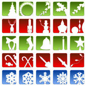 Holiday icons — Vettoriale Stock