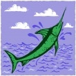 Woodcut marlin — Vetorial Stock #8831609