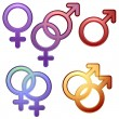 Gender symbols — Stock Vector