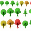 Stock Vector: Tree icons