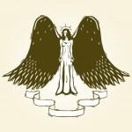 Woodcut angel — Stock Vector #8831791