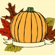 Woodcut pumpkin — Vetorial Stock #8880857