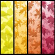 Royalty-Free Stock Vector Image: Four vertical autumn banners