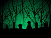 Creepy graveyard — Stock Vector