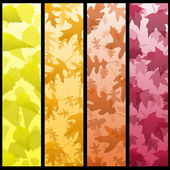 Four vertical autumn banners — Stock Vector