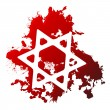 Blood star of david — Stock Vector