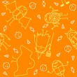 Royalty-Free Stock Vectorafbeeldingen: Halloween character background