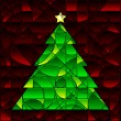 Stained glass xmas tree — Stock Vector #8988326