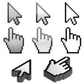 Símbolos de cursor — Vetor de Stock