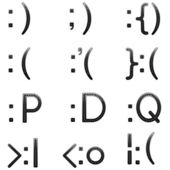 Emoticon set — Stockvektor