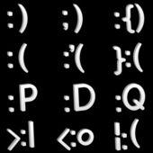 3D emoticon set — Stock Vector
