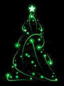 Xmas tree of light — Stock Vector
