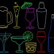 Royalty-Free Stock Vector Image: Neon drinks
