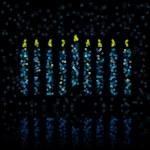 Light menorah — Stock Vector #9022855