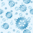 Seamless blue gears — Stock Vector