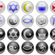 Religion icons — Stock Vector