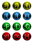 Emoticon buttons — Stock Vector