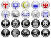Ícones de religião — Vetor de Stock