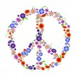 Flower peace sign — Stock Vector